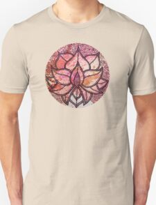 Mandala lotus zen yoga asian meditation doodle watercolor Unisex T-Shirt
