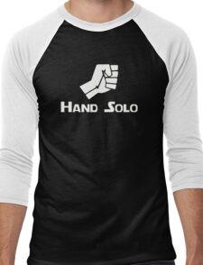 Hand Solo Type Parody Men's Baseball ¾ T-Shirt