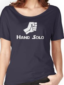 Hand Solo Type Parody Women's Relaxed Fit T-Shirt