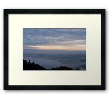 Sunset Over Stirling and Alloa Framed Print