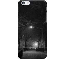 NYC Snowy Path B&W iPhone Case/Skin