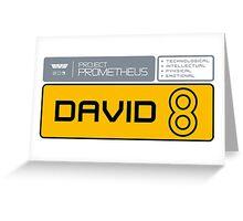 David 8 Greeting Card