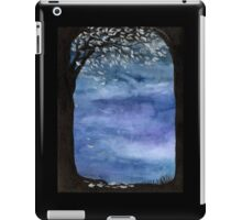Blue sky, Tree watercolor painting iPad Case/Skin
