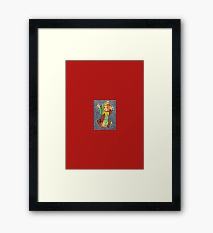 Jester Cat with Balls Framed Print
