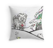 Max and friends Throw Pillow