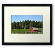 Canadian Red Barn Framed Print