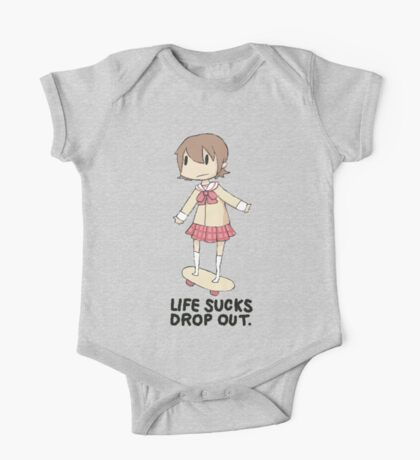 life sucks drop out One Piece - Short Sleeve