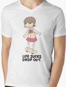life sucks drop out Mens V-Neck T-Shirt