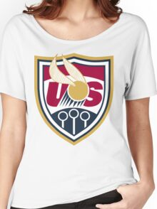 United States of America Quidditch Logo Large Women's Relaxed Fit T-Shirt