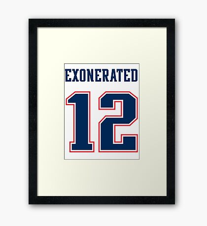Brady Exonerated Framed Print