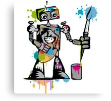 Robot painter  Canvas Print