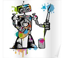 Robot painter  Poster