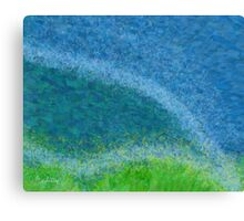 Dandelions in the Mower digital abstract painting Canvas Print