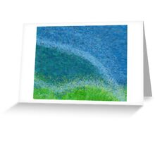 Dandelions in the Mower digital abstract painting Greeting Card