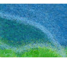 Dandelions in the Mower digital abstract painting Photographic Print