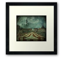 When the circus came to town... Framed Print