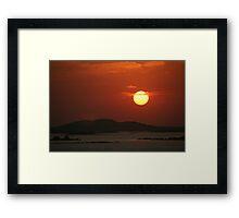 Sunset on Lake Nasser Framed Print