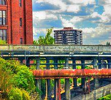 """""""Post Street Bridge - Spokane, WA"""" by Whitney Mason"""