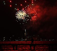 Fireworks - Red 22/1/11 Geelong by Deb Gibbons