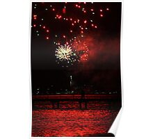 Fireworks - Red 22/1/11 Geelong Poster
