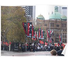 Protest Parade - Sydney Town Hall area Poster