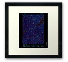 USGS Topo Map Oregon Green Peter 280097 1984 24000 Inverted Framed Print