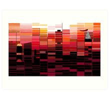 """Sunrise"" - Morning colors over the city. Art Print"