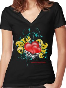 Valentines 2011 Women's Fitted V-Neck T-Shirt