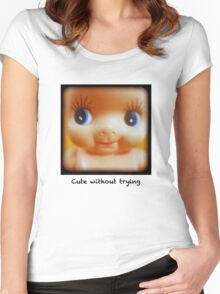 Cute without trying Women's Fitted Scoop T-Shirt
