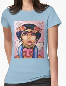 Frida : Wings Womens Fitted T-Shirt