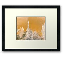 """Water and Sand"" - Wind swept sand dunes. Framed Print"