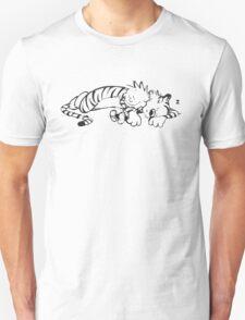 Calvin & Hobbes Sleeping Unisex T-Shirt