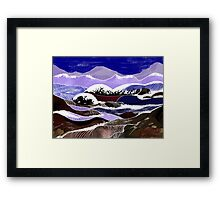 """Blending Waters""  - The streams down the mountains. Framed Print"