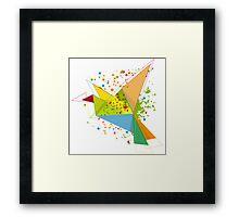 Paper bird paper plan  Framed Print