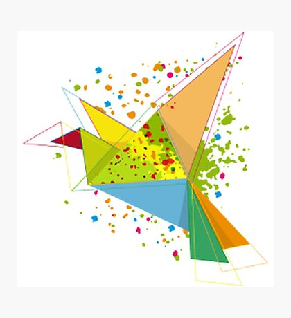 Paper bird paper plan  Photographic Print