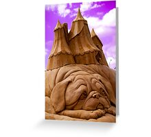 """""""Sculptures in sand""""  Greeting Card"""