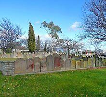 Headstones, Christ Church, Longford by Margaret  Hyde