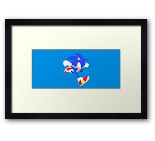 Sonic - Super Smash Bros.  Framed Print