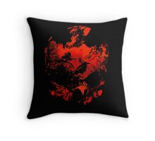 A Skull, some crows and flames Throw Pillow