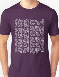 Board Game Pieces – Inverted Unisex T-Shirt