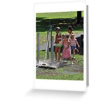 Kids Playing Greeting Card