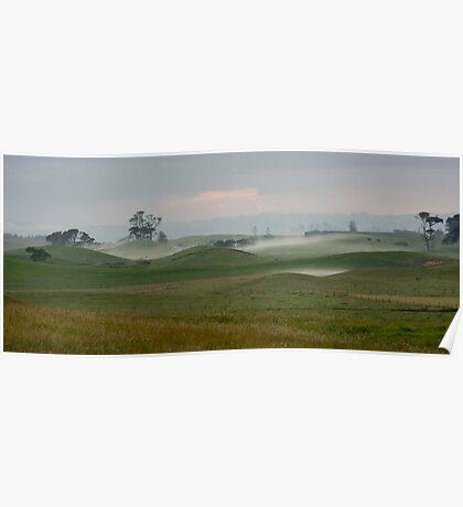 Misty morning - Northland NZ Poster