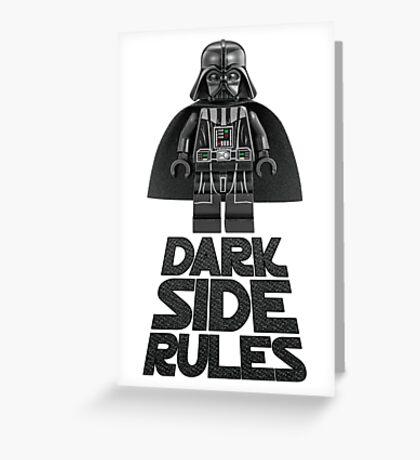Dark side lego Greeting Card