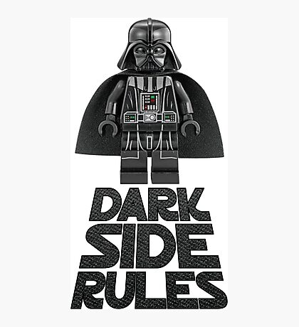 Dark side lego Photographic Print