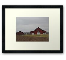 Old Robertson County Red Barn Framed Print