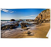 Caves Beach Poster