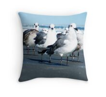 Seagulls in Myrtle Beach SC Throw Pillow
