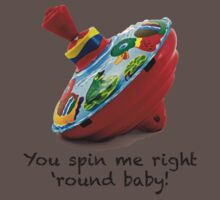You Spin Me Right Round Baby One Piece - Short Sleeve