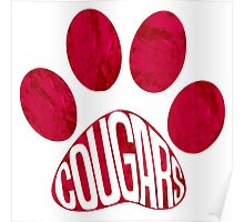 Cougars Paw Poster