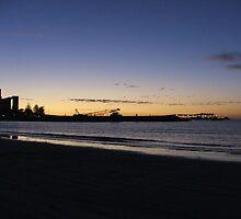 Wallaroo, beach, silos and jetty by Bowen Bowie-Woodham
